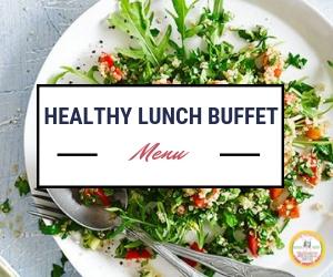 healthy lunch buffet menu