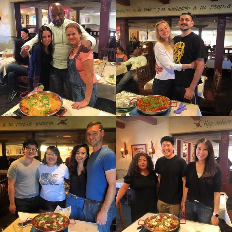 paella class 1st!